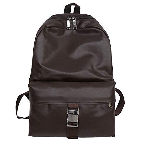 (Unisex Vintage Double Bag Student Satchel Travel School Rucksack Backpack)