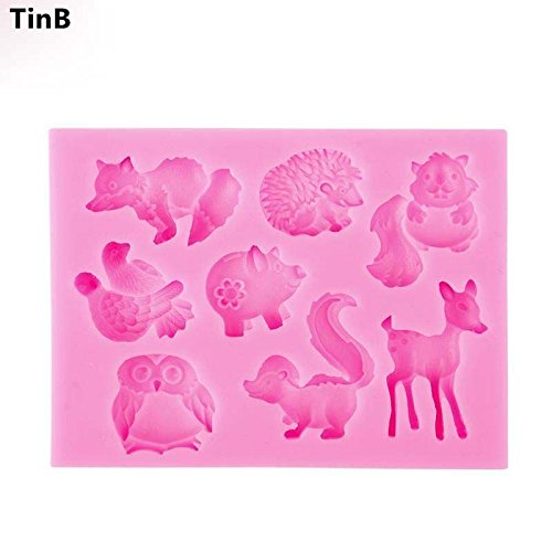 Star-Trade-Inc - Cartoon Deer Mold Forest Animal Fondant Cake Decorating Molds Cake Silicone Molds DIY Fondant Cake Silicone Cupcake Molds Tools