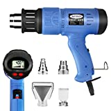 Heat gun, MOWIS 1800W Professional Hot Air Gun with Digital LCD Display, Adjustable Temperature (100-600℃) , Airflow 190-250L/min For Stripping Paint, Soldering Pipes, Shrinking PVC