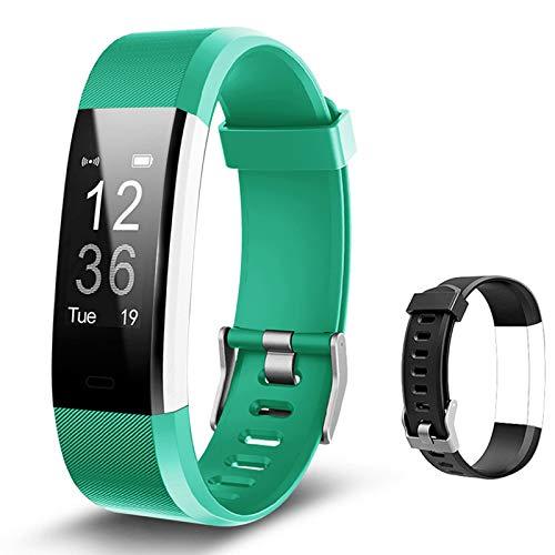 Lintelek Fitness Tracker, Activity Tracker Horloge Hartslagmeter, Waterdichte Smart Fitness Band Stappenteller…