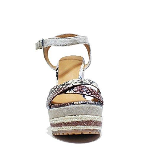 Pelle Suede Con Sandalo Sand La Zeppa 6 Alta Nuova La5 Estate Kaobu Donna 2016 Collezione Famme Scamosciata Natural Zeppa Primavera Scarpe 4S1wW8TWtq