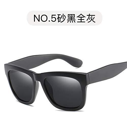 polarizadas Gafas de Sol Oro cuadradas Negro gray de Brillante de Modernas de full Retro Gafas Sol Burenqiq Polvo Rosa los Sol Sand polarizadas Gafas black de Gafas Hombres 6Xxfnf