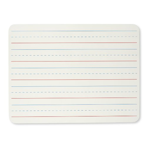 Charles Leonard Set of 12 Dry Erase Lapboards, 9 x 12 Inches, Masonite, Two Sided, Lined/Plain White, 12 Each (35120)