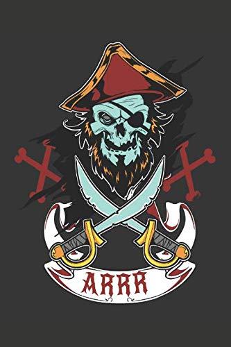 Pirate Skull Crossbones Arrr Journal Notebook ()