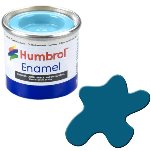 Humbrol 14ml No. 1 Tinlet Enamel Paint 157 (Azure Blue Matt)
