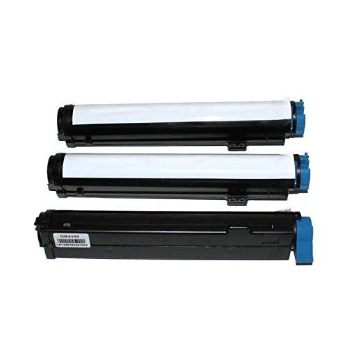 3 pcs Compatible Okidata 42103001 Black Laser Toner Cartridge for OKI B4100, B4200, B4250, B4300, B4300n, B4350, & B4350n Printers 42103001 Laser