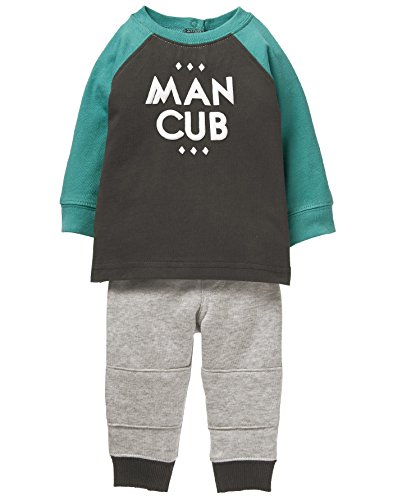 Gymboree Baby Boys Man Cub Graphic Jogger Set, Multi, 3-6 Mo (Clothes Baby Boy Gymboree)