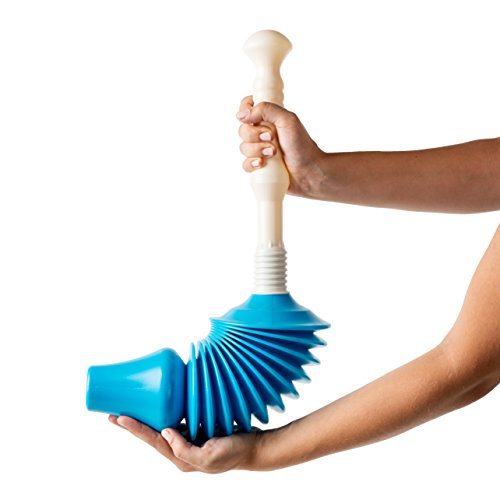 Powerful Toilet Plunger and Unblocker – Heavy Duty Tool to Easily Clear All...