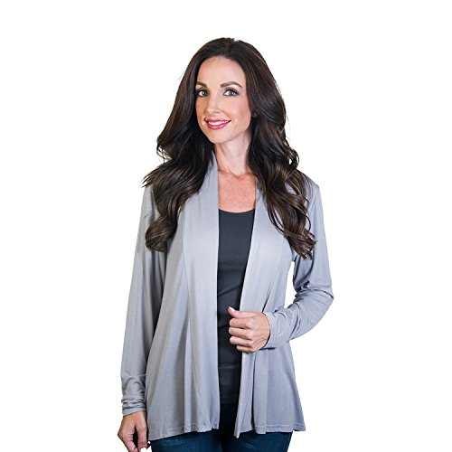 Agiato Women\'s Modern Lightweight Long Sleeve Open Front Cardigan