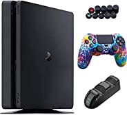 Sony Playstation 4 1TB Console - Black PS4 Slim Edition with 1TB Storage, DS4 Wireless Controller and GalliumP