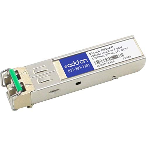 Image of Add-On Computer Cisco Compatible TAA Compliant 1000Base-ZX SFP Transceiver (GLC-ZX-SMD-AO) Network Transceivers