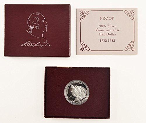1982 S George Washington Half Dollar In Box With COA .50 Proof US Mint ()