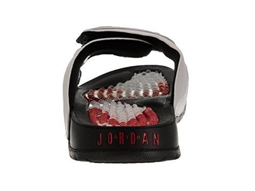 Jordan Herren Hydro 6 Slide Sandalen Weiß / Gym Rot / Schwarz