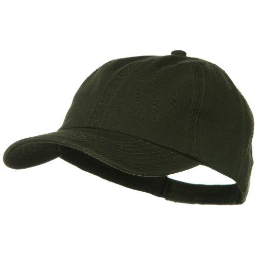 Deluxe Garment Washed Cotton Twill Cap - Dark Olive Green (Dark Green Baseball Hat)