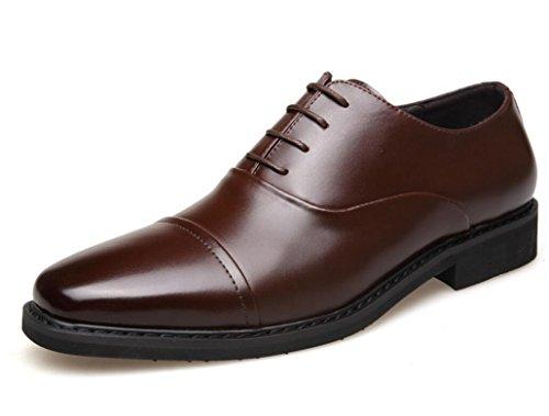 pizzo da Casual da Scarpe in da uomo pelle Oxford ZCH uomo Scarpe di brown Scarpe Pattini cucire xYP5Iq