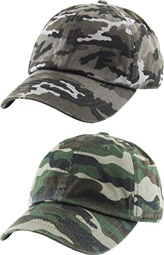 H-100kids-2-840633 Kids Cap 2-Pack: camo black & camo green (2-5)