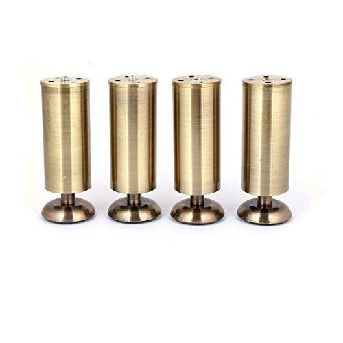 150 Furniture (DealMux Kitchen Cabinet Cupboard 150mm Metal Adjustable Furniture Leg Bronze Tone 4pcs)