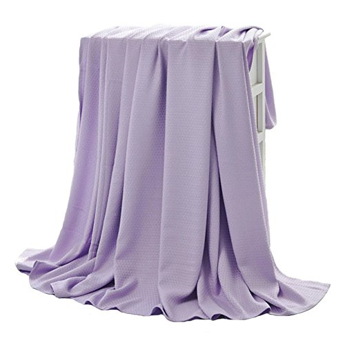 Bluestar Natrual Bamboo Throw Blanket, Soft Breathable Blanket for Baby Kids, 60