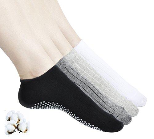 Aichatan Konater Womens Non Slip Skid Low Cut Casual Sport Yoga Short Cotton Socks