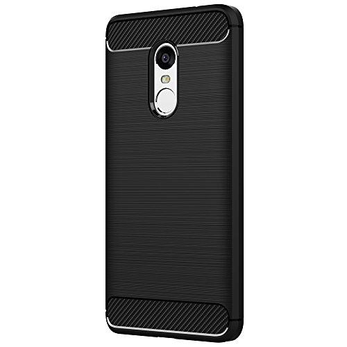 929657e2cab AICEK Funda Xiaomi Redmi Note 4, Redmi Note 4 Funda Negro Gel de Silicona  Redmi Note 4 Carcasa Fibra de Carbono Funda para Redmi Note 4 5.5