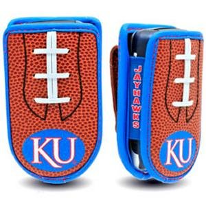Kansas Jayhawks Designer Leather Cell Case -
