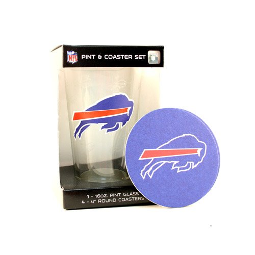 - Buffalo Bills Pint and Coaster Set