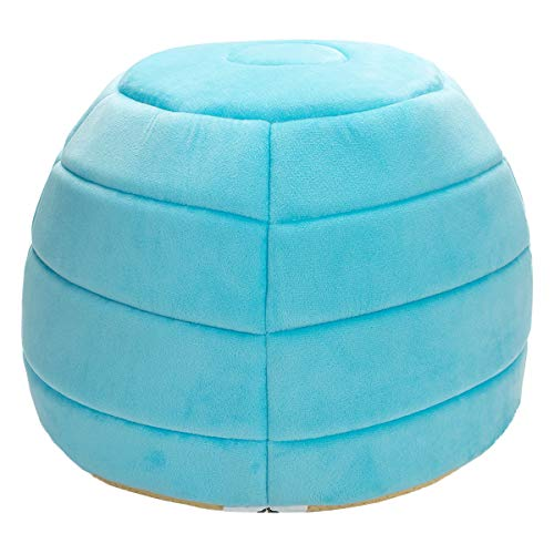 Hollypet-Coral-Velvet-Self-Warming-2-in-1-Foldable-Cave-Shape-High-Elastic-Foam-Pet-Cat-Bed-for-Cats-and-Small-Dogs