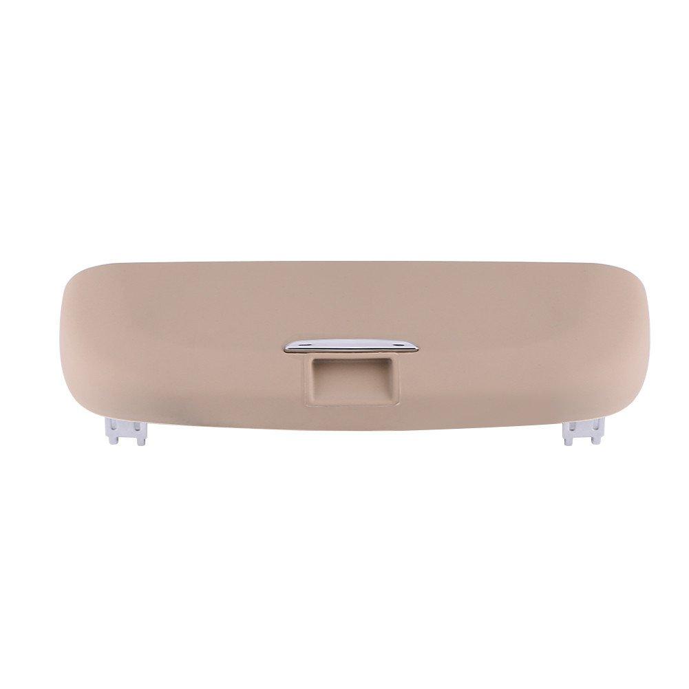 Qiilu Car Auto Front Roof Sunglasses Storage Holder Organizer Box for 2016 2017