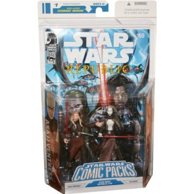 Figures Wars Star Clone Wars (Star Wars Clone Wars Action Figure Comic 2-Pack Dark Horse: Republic #69 Asajj Ventress and Tol Skorr)