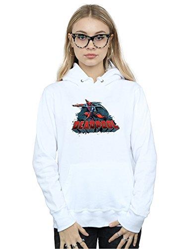 Sword Marvel Mujer Blanco Logo Deadpool Capucha qxERwpOx