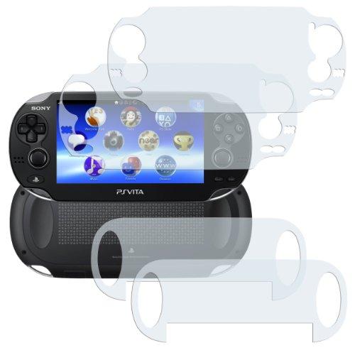 4 x mumbi Displayschutzfolie Sony PlayStation Vita Schutzfolie / 2 x VORDERseite + 2 x RÜCKseite (Nicht für PS Vita Slim)