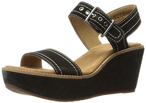 Clarks Sandales Compensées Aisley Orchidée Sandales Noires