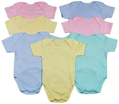 ToBeInStyle Babys' 4 Pack Short Sleeve Bodysuit Onesies - Pastel - Size 1