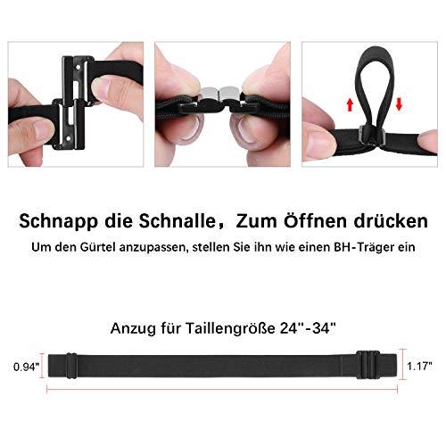 WERFORU No Show Stretchgürtel mit flacher Schnalle Unsichtbarer elastischer verstellbarer Gürtel für Frauen