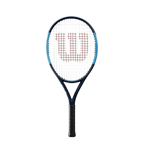 Wilson Ultra 25 Junior Tennis Racquet Strung Synthetic Gut Power String in Pink Color