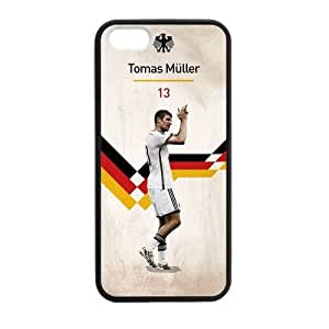 iPhone 5 Case, [soccer] iPhone 5,5s Case Custom Durable Case Cover for iPhone5 TPU case(Laser Technology)