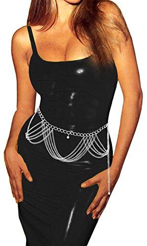 Luna Sosano Women's Chain Belt - Type 60 - Polished Silver
