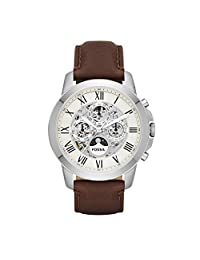 Fossil Men's ME3027 Grant Analog Display Automatic Self Wind Brown Watch