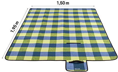419AlDW42LL TRESKO XXL 195 x 150 cm Picknickdecke Acryl Wasserdicht | Campingdecke für Outdoor mit Tragegriff | Wärmeisoliert…