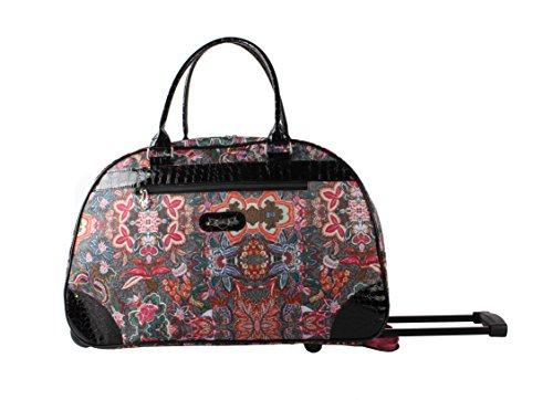 1062ba1707 Kathy Van Zeeland Luggage 22 Inch Rolling Carry On Printed Wheeled Duffel  (One Size,