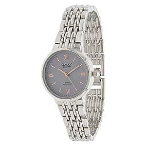 Omax Women's Grey Dial Metal Band Watch - HSJ750P007