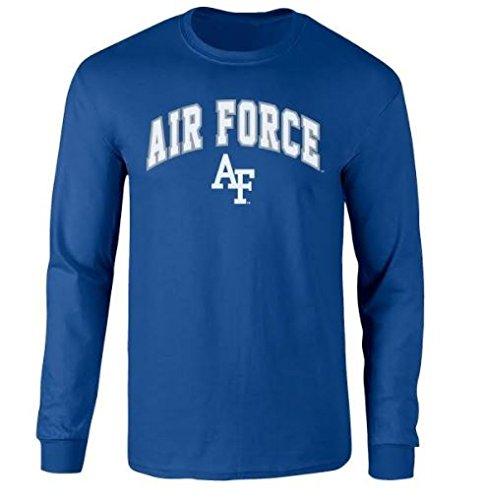 - Elite Fan Shop NCAA Men's Air Force Falcons Long Sleeve Shirt Team Color Arch Air Force Falcons Blue Large