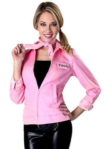 Authentic Pink Ladies Jacket Grease Costume for Women Officially Licensed X-Small]()