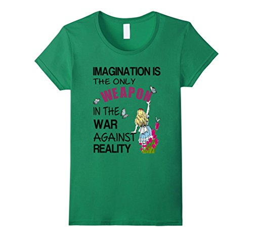 (Womens Alice in Wonderland-Men Women Kids T Shirt Large Kelly)