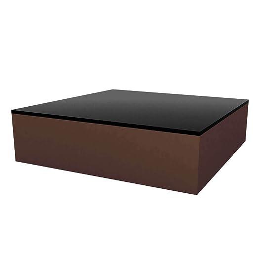 Vondom Quadrat mesa baja de exterior 120x120 h.32 cm bronce ...