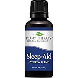 Plant Therapy Sleep Aid Synergy Essential Oil Blend. 100% Pure, Undiluted, Therapeutic Grade. Blend of: Mandarin, Ylang-Ylang, Valerian, Lavender and Neroli. 30 mL (1 Ounce).