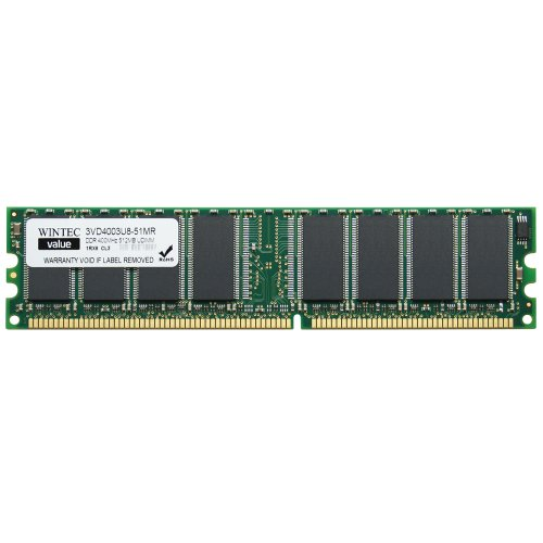 184 3200 Pin Pc - Wintec Value MHzCL3 512MB UDIMM Retail 1Rx8 512 Not a Kit (Single) DDR 400 (PC 3200) 184-Pin SDRAM 3VD4003U8-51MR