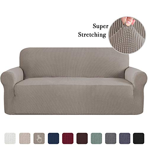 Stretch Sofa Slipcover, Sofa Covers for Living Room, 1 Piece Furniture Lounge Cover for Sofa, Feature Spandex Jacquard Fabric for 3 Seater Sofa Cover (Sofa, - Seater 3 Small