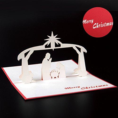 Paper Spiritz Holiday Greeting Card - Gesus Pop up Christ...