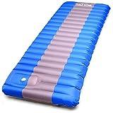 Half Dome Sleeping Pad Waterproof Mat - Perfect Hiking, Camping, Car Sleeping, Backpacking Air Sleeping - Inflatable Sleep Bag Pad Built in Pump Larger Image